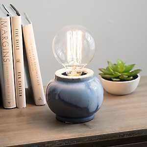 Blue Ombré Ceramic Glaze Edison Bulb Uplight