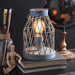 Blue Washed Edison Table Lamp