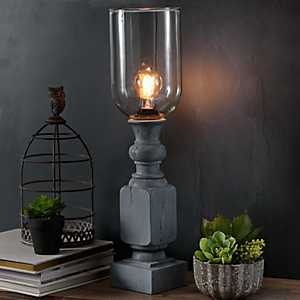 Washed Gray Edison Uplight