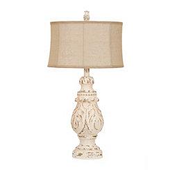 Caroline Distressed Cream Table Lamp