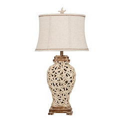 Starfish Cut Out Table Lamp