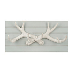 Antlers on Beadboard Wall Plaque