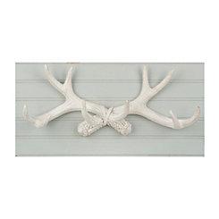 Antlers on Beadboard Wall Plaque
