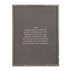 Home is a Special Place Faux Metal Plaque