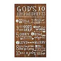 God's Commandments Wall Plaque