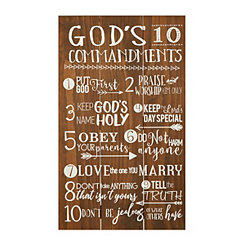God's Commandments Wall Plaque