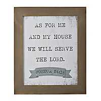 As For Me and My House Rustic Plaque