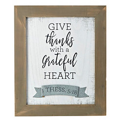 Give Thanks With a Grateful Heart Rustic Plaque