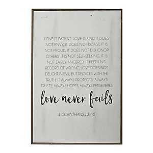Love is Kind White Wash Plaque