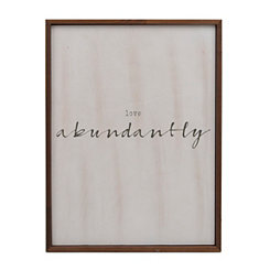 Love Abundantly Wall Plaque