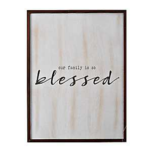 Our Family is So Blessed Wall Plaque
