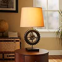 Industrial Gear Table Lamp Base