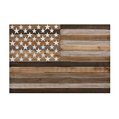 Natural Wooden Flag Plaque