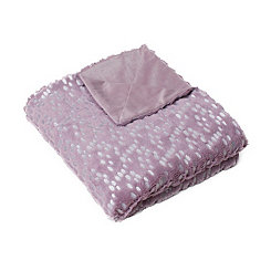 Purple and Silver Dot Throw Blanket