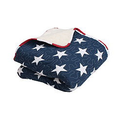 American Flag Quilted Throw Blanket