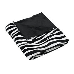 Zebra Stripe Microplush Throw Blanket