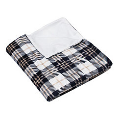 Penny Plaid Microplush Throw Blanket