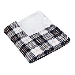 Penny Plaid Microplush Throw Blanket