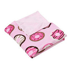 Pink Donuts Microplush Throw Blanket