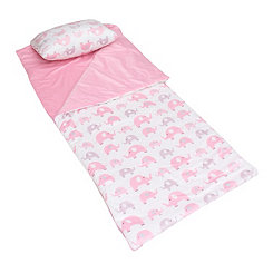 Pink Elephant Microplush Sleeping Bag
