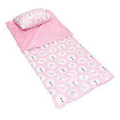 Pink Birds Microplush Sleeping Bag