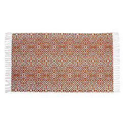 Anders Orange Diamond Rug