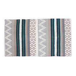Jayden Teal Patterned Rug