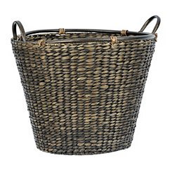 Brown Woven Hyacinth Basket