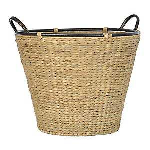Tan Woven Hyacinth Basket