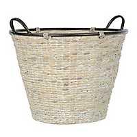 White Woven Hyacinth Basket