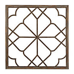 Nicole Loft Wood and Metal Wall Plaque