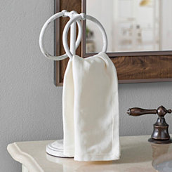 Antique White Ring Towel Holder