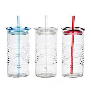 Ribbed Glass Tumblers