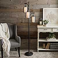 Black Triple Mesh Floor Lamp