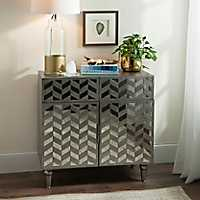 Julia Gray Mirrored Cabinet