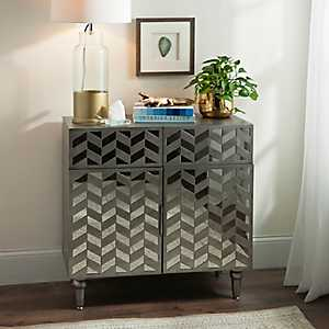 Julia Gray Mirrored Cabinet