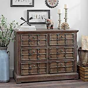 Jayden Rustic 6-Drawer Cabinet