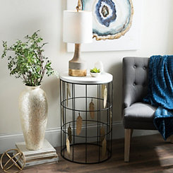 Gold Feathers Accent Table