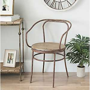 Rustic Wood and Metal Chair