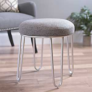 Gray Hairpin Stool