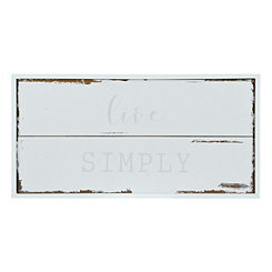Live Simply Wood Plaque