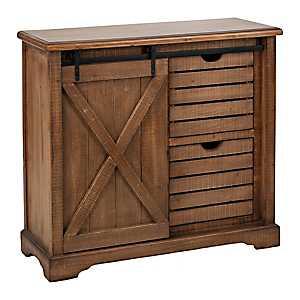 Barn Door 2-Drawer Cabinet