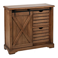 Barn Door 2-Drawer Cabinet