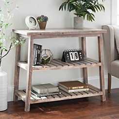 Emmie Wood Slat Console Table