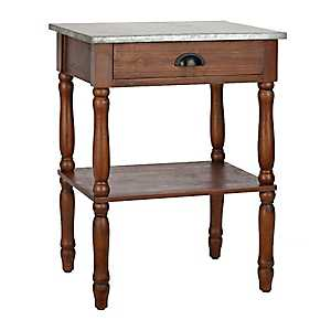 Galvanized Top Cottage End Table