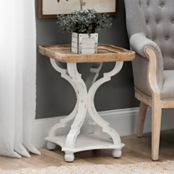 Corina Scalloped Accent Table