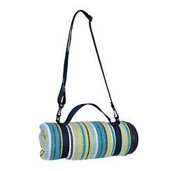 Blue Stripe Picnic Blanket