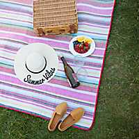 Red Stripe Picnic Blanket