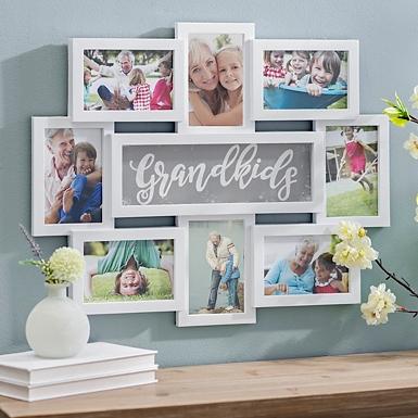 grandkids white collage frame