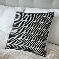 Black and White Herringbone Pillow